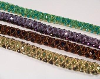 Fire Polish Bracelet Bead Weaving Pattern in PDF