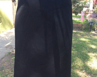 Amazing vintage plus size 1950s black pencil skirt vlv rare size