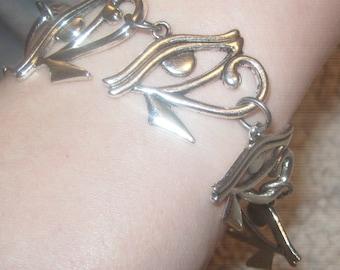 30MM Egyptian Egypt Eye Of Horus RA Bracelet Pendant set