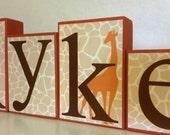 Ryker Collection - Tan giraffe print - Giraffe theme - orange,  brown and tan -  Tulle can be added -