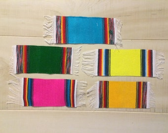 Mini Large Mexican Serape Sarape Blanket Party Decoration Giveaway Favor Coaster