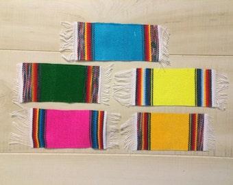 SP002 Mini Medium Mexican Serape Sarape Blanket Party Decoration Giveaway Favor Coaster