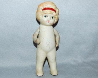 Vintage / Large / Bisque / Doll / Flapper / frozen charlotte / penny doll / Japan / Vintage Dolls