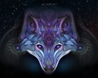 Chrome Wolf - Paper and Canvas Prints