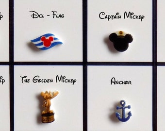 Disney Cruise Line Floating Locket Origami Inspired Charms