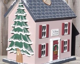 Winter Wedding Card Box Birdhouse, large Wedding Card Box