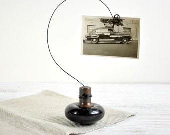 Vintage Door Knob Photo Holder, Wire Photo Holder, Picture Holder, Card Holder