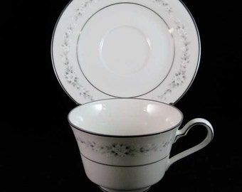 Noritake Heather Tea Cup & Saucer Set #7548
