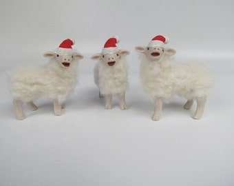 Porcelain and Wool Santa's Lamb Elf