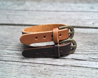 set of two Leather bands cuff bracelet, boho style leather cuff, bracelet, fashion accessories