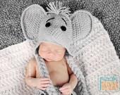 CROCHET PATTERN, Jeffery Jr. the Elephant Hat and Diaper cover Baby Set, Crochet Pattern in PDF