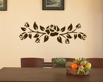 Decorative Rose Decal, Vinyl Wall Lettering, Vinyl Decals, Wall Quotes, Vinyl Letters, Wall Words, Bathroom Sticker, Decal for Home