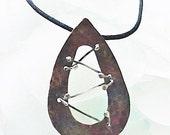 Copper Argentium Sterling Teardrop Pendant