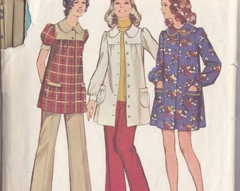 Misses  Maternity Smock Dress Or Smock Top  & Pants Pattern ~ Simplicity 5368  Size 10 ~ Easy Simple Lines ~ Cut But Complete