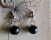 Black Dots Earrings