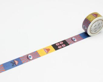 Artist series washi tape Mt  Eye and Mouth 20mm x 7M washi masking tape