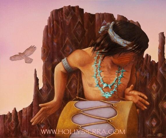 Canyon Song - A Native American Drummer Boy