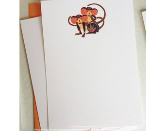 Monkey Year Personalised Note Cards A-7