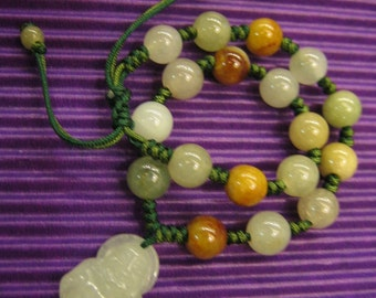 ALL THE BEST ... Natural Jade Bracelet ... Handknotting Jewelry