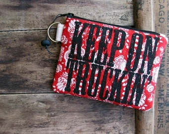 SALE Small Zip Wallet Zipper Pouch Keyring Changepurse College Holder 20 Dollars Nashville Tennessee Womens Accessories Gifts for Her