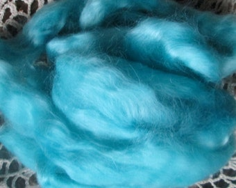 Turquoise Mohair Top Roving