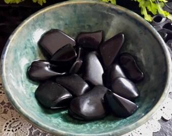 Jet Polished Stone, Black Amber, Lignite, Gem Ligniteare