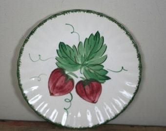vintage blue ridge dinner plate strawberry pattern 9 inch diameter