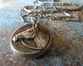 Silver Horse Necklace. Equestrian Necklace. Fine Silver Equestrian Jewelry