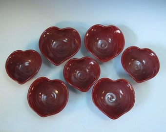 Red Heart Bowl - Hand Made Wheel Thrown - In Stock