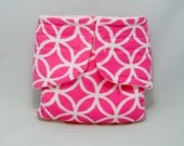 Baby Doll Diaper - Pink Pattern - Size Small