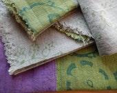 Linen Napkins, Hand Printed, Set of 4