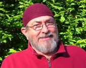 Mens Cotton Cooling Cap Crocheted in Burgundy