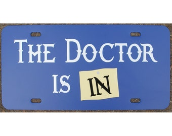 Doctor Who License Plate The Doctor Is In Car Tag