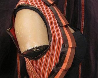 Brown and orange stripe Bolero one size