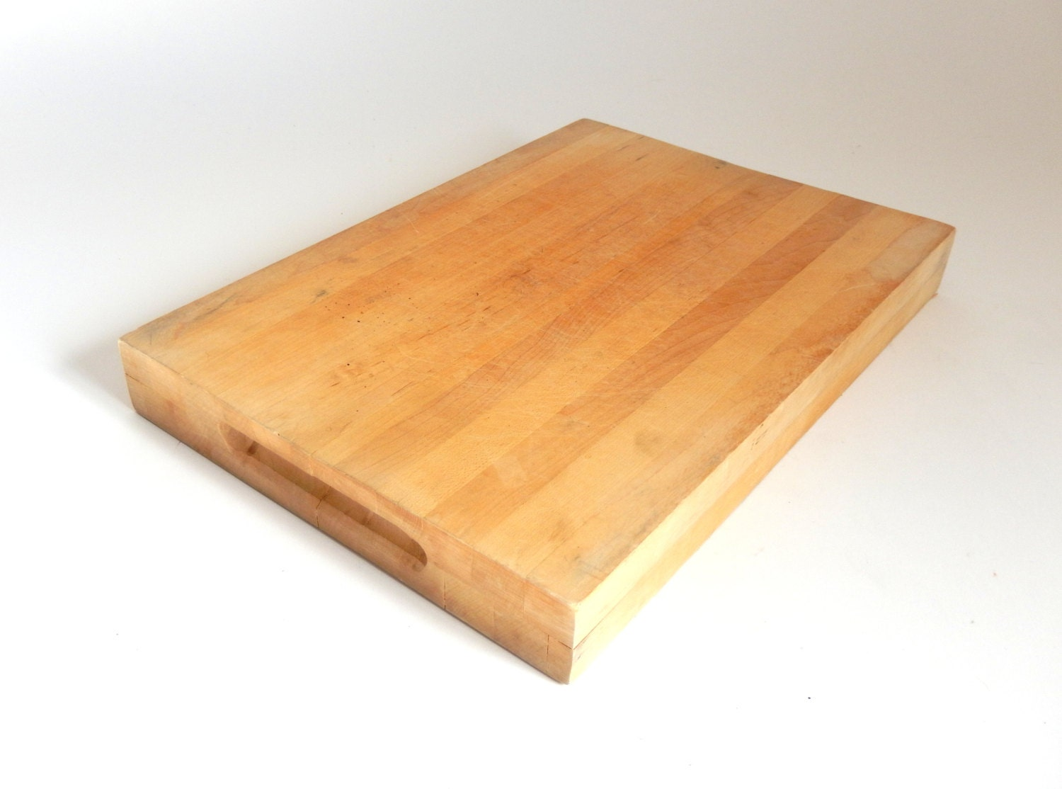 vintage thick butcher block cutting board