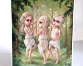 The Three Graces - Limited Edition signed numbered 8x10 pop surrealism lowbrow Fine Art Print by Mab Graves -unframed