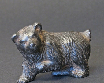 Vintage Japanese  Iron Brown Bear Walks