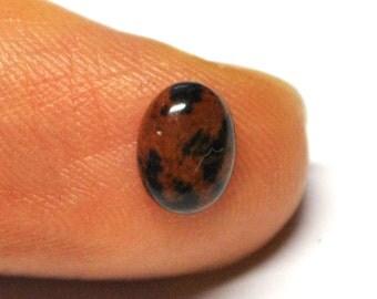 Natural Mahogany Obsidian Oval Cabochon - 8.0 x 6.0 x 2.8 mm - 1.0 ct - 141205-51
