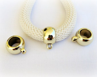 Silver Plated Large Hole Spacer Ring Beads For European