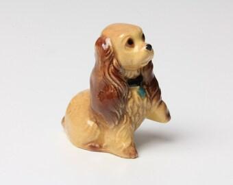 Porcelain MINI Cocker Spaniel Dog Figurine with collar