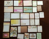 Becky Higgins Project Life NOTES & THINGS  Card set - set of 30