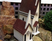 Country Church Birdhouse-Perfect Gift - Personalize - Wedding Gift - Anniversary