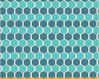 Windham Fabric's Kinetic, Honeycomb 40077-4 (Turquoise) 1 yard