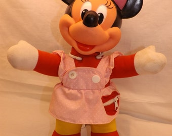 Minnie Mouse Doll Buckle My Shoe Walt Disney Doll Children Learning Toy To Button