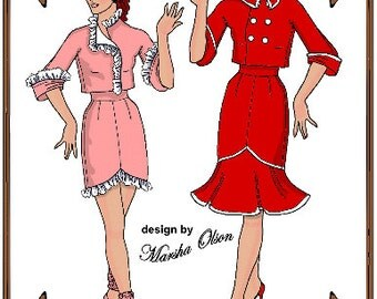 Kitty Collier Doll Clothes Pattern - Jacket, Skirt, Pillbox Hat - No. 207
