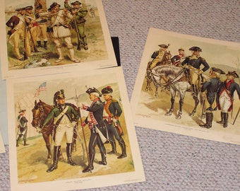 Vintage Military prints,Early American Military, H.A.Ogdon 1856-1936 , War Prints, Art,