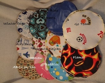 Large Ecofriendly Cloth Waterproof Nursing Pads - Natural Breastfeeding - 5 in Extra Coverage - F603