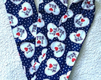 I Love the USA Hearts Stethoscope Cover