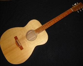 Cherry Acoustic Guitar, OM size, handmade
