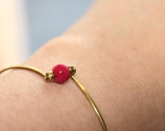 Jade Bangle Bracelet * Thin Bracelet * Stackable Bracelet * Stacking Bangle * Simple Bracelet * Stone Bracelet * Minimalist...*Prepared Lie*